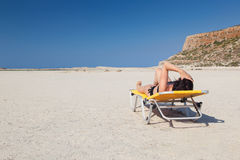 Woman alone on the beach 5 Royalty Free Stock Image