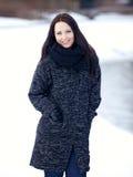 Woman Alone in Winter Wonderland Stock Image