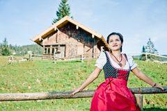 Woman in the Alps Royalty Free Stock Photos