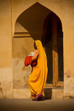 Woman of Amer Fort, Jaipur, India Royalty Free Stock Photo