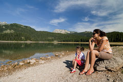 Woman And Girl In Durmitor Park Royalty Free Stock Image