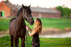 Free Woman And Horse Stock Image - 17524211