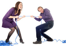 Woman And Man Conflict Royalty Free Stock Photo