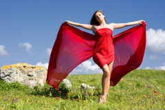 Free Woman And Nature Stock Image - 12976841
