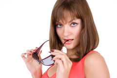 Woman And Sunglasses Stock Image