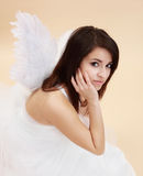 Woman angel Stock Images