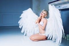 Woman angel Stock Photography