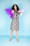 Woman with angel's wing Royalty Free Stock Image
