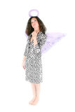 Woman with angel's wing Royalty Free Stock Photo