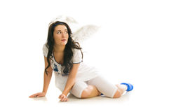 Woman angel Royalty Free Stock Photography