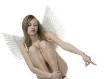 Woman with angel wings Stock Image