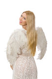 Woman with angel wings isolated Stock Photography