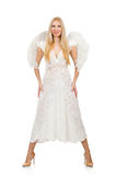 Woman with angel wings isolated Stock Photos
