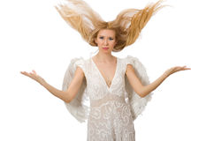 Woman with angel wings Royalty Free Stock Images