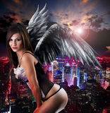Woman with angel´s wings Royalty Free Stock Photography