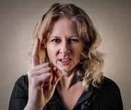 Woman with an anger expression Royalty Free Stock Image