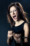 Woman anger face Royalty Free Stock Photography