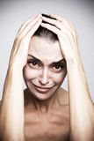 Woman anger. Royalty Free Stock Photo