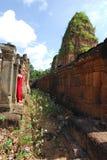 Woman at Angkor Royalty Free Stock Photos