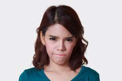 Woman of angry Stock Photography