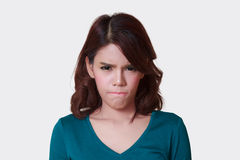 Woman of angry Stock Photo