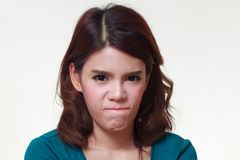 Woman of angry Royalty Free Stock Photo