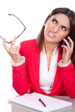 Woman with angry expression Stock Photo