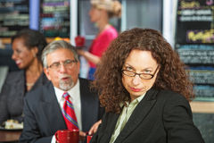 Woman Annoyed with Man Stock Photos