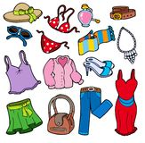 Woman apparel collection stock illustration