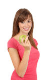 Woman and apple Royalty Free Stock Images
