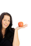 Woman and apple Royalty Free Stock Photography