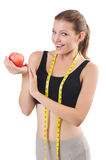 Woman with apple Royalty Free Stock Photo