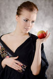 Woman apple dream Stock Images