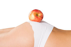 Woman and Apple Stock Photography