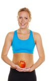 Woman with apple Leotard Royalty Free Stock Photography