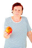 Woman with apple Stock Photos