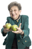 Woman with apples stock photo