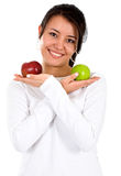Woman with apples Stock Image