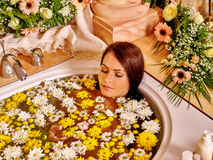 Woman applying moisturizer Stock Photography