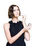 Woman Applying Perfume Fragrance Royalty Free Stock Image