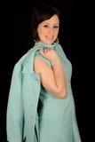 Woman in aqua dress Royalty Free Stock Photo