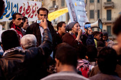 Woman in the Arab revolution. In Tahrir Square Stock Image