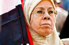 Woman in the Arab revolution. In Tahrir Square Royalty Free Stock Photos