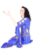 Woman in arabian dress dreaming Stock Photos