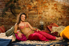 Woman in arabic costume Stock Images