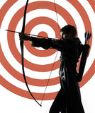 Woman archer Royalty Free Stock Photography
