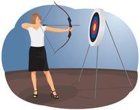 Woman archer Stock Photo