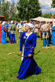 Woman archer Royalty Free Stock Images