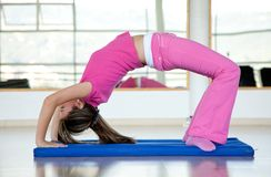 Woman arching her back Royalty Free Stock Photos