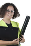 Woman architect Stock Photography
